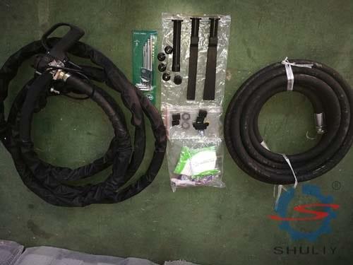 accessories of the dry ice blasting machine