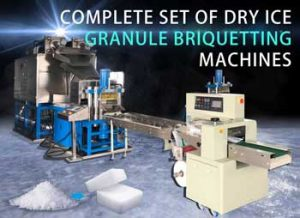 Complete set of dry ice granule briquetting machines
