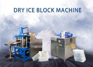 Dry ice block machine