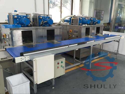 dry ice block machine with conveyor