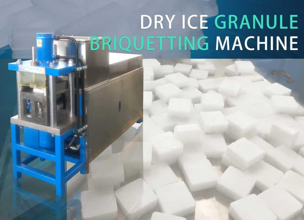 Dry ice granule briquetting machine