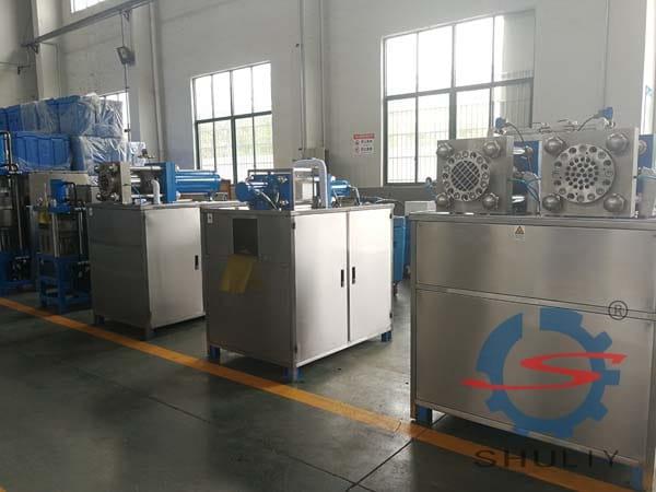 dry ice machine factory display